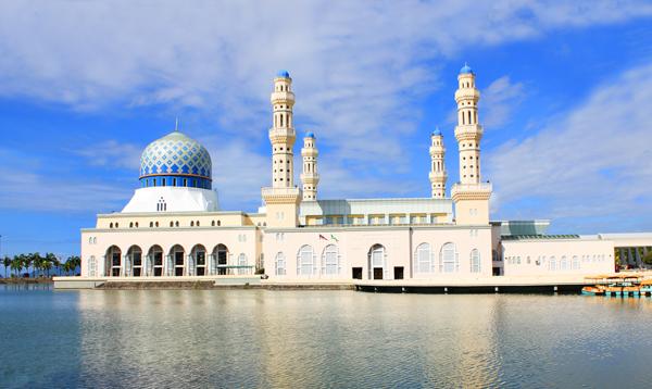 沙巴超值5天游:马来西亚沙巴水上清真寺