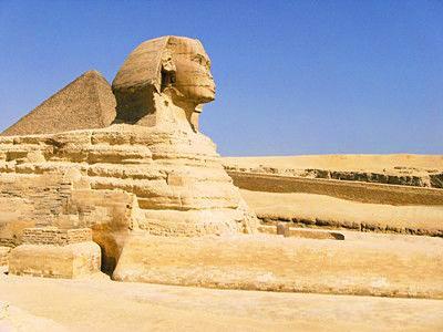 埃及金字塔狮身人像