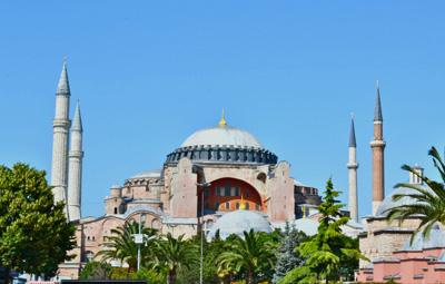 土耳其12天全景游:土耳其圣索菲亚大教堂
