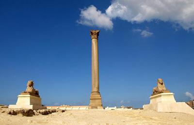 埃及10天游_埃及亚历山大-庞贝之柱