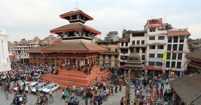 尼泊尔6天游:尼泊尔加德满都杜巴广场