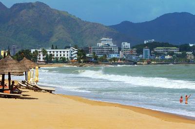 越南芽庄海滨沙滩