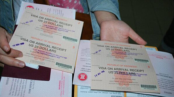 巴厘岛落地签证样板