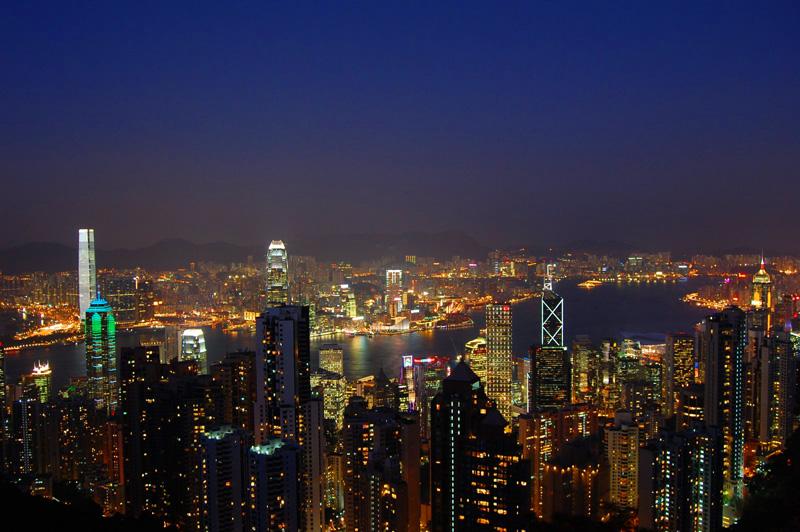 西班牙葡萄牙旅游十日:香港夜景