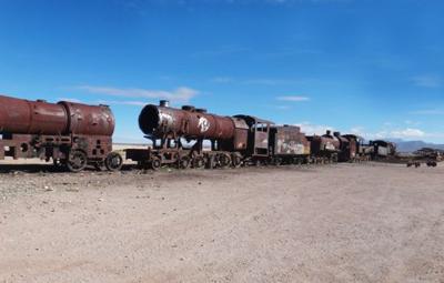 玻利维亚无尤尼-墓地火车