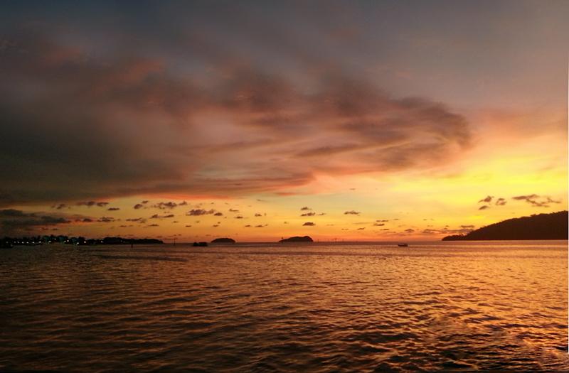在沙巴享受日落黄昏