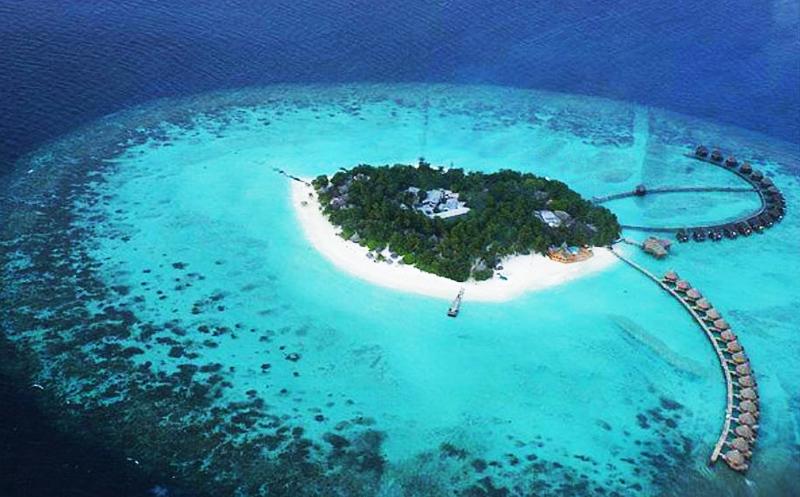 马尔代夫蓝色美人蕉岛