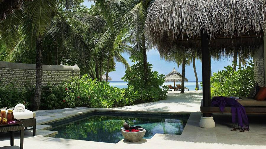 马尔代夫四季岛风景图