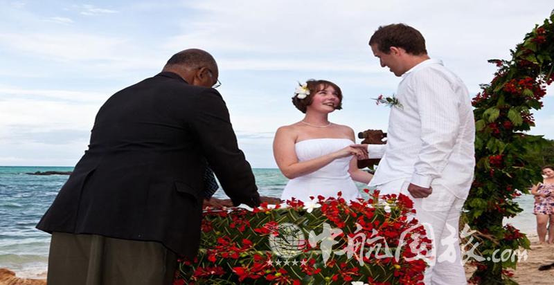 在斐济举行婚礼