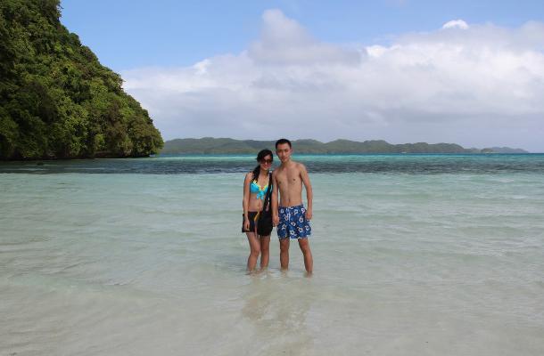 帕劳群岛情侣