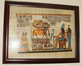 土耳其、埃及18天游:埃及纸莎草画