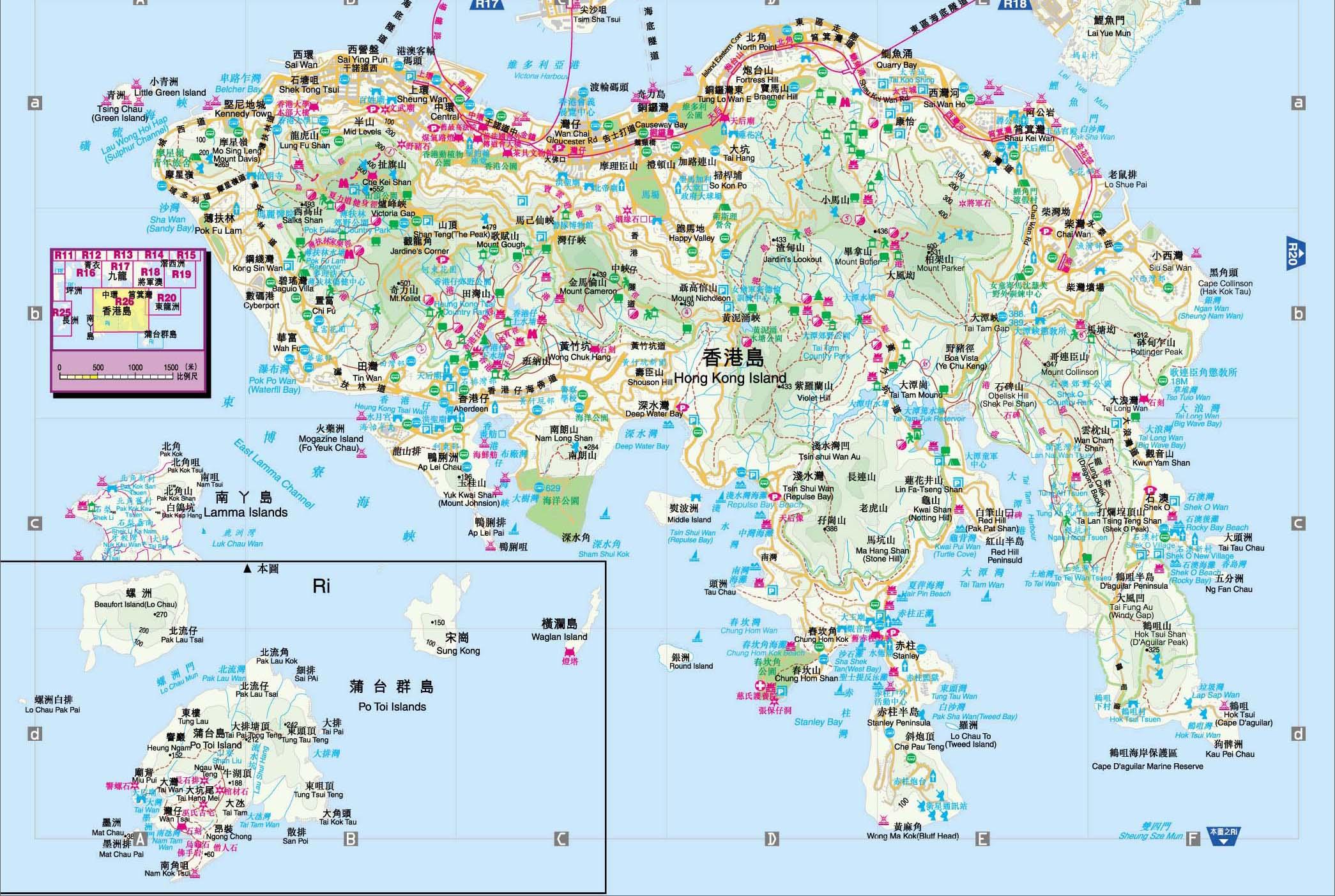香港全景导游图
